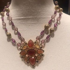 Robert Rose 🌹, Fab & Fun necklace, Purple / Gold